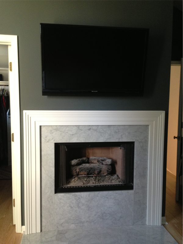 Before After Master Bedroom Fireplace Ak Studio