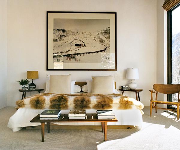 Aerin Lauder's Aspen Bedroom