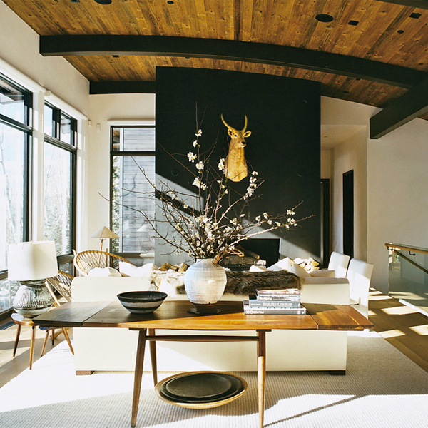 Aerin Lauder's Aspen Living Room 2